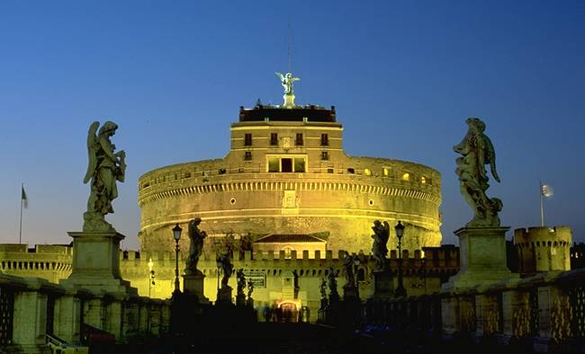 St Angel Castle at night